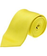 Le bon monsieur Cravate unie en soie - jaune
