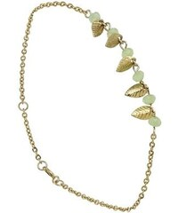 Oscar Bijoux Roseaux - Bracelet chaîne en plaqué or - vert