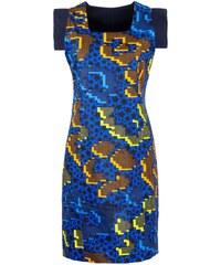 Caran Jade - Robe révéersible en coton à imrpimé wax - Bleu jade / Bleu nuit