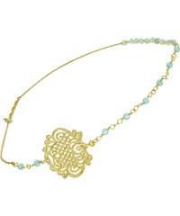 Les Dissonances Lagno - Bijoux de tête - perles bleues
