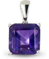 Tous mes bijoux Pendentif en argent avec améthyste - violet