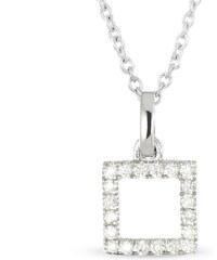 Tous mes bijoux Pendentif en or blanc serti de diamants - or