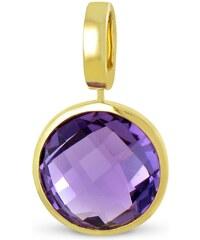 Tous mes bijoux Pendentif en or - violet