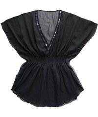 Marie Meili Malibu - Kleid mit Kaftanschnitt - schwarz