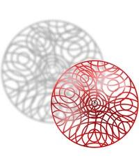 Thomas de Lussac Crop circle - Suspension lustre en métal - rouge