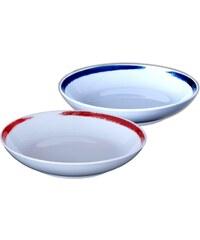 Site Corot Artwork - 2 assiettes calotte Porcelaine de Limoges - multicolore