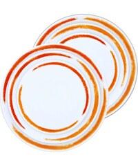 Site Corot Artwork - 2 sets de 3 assiettes en Porcelaine de Limoges - orange