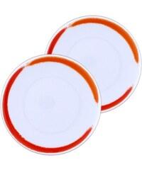 Site Corot Artwork - 2 assiettes à pain mini porcelaine de Limoges - orange