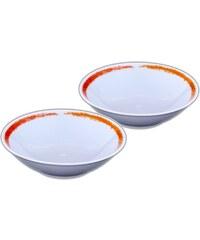 Site Corot Artwork - 2 coupelles à crème Porcelaine de Limoges - orange