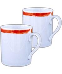 Site Corot Artwork - 2 Mugs en Porcelaine de Limoges - orange
