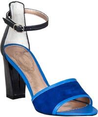 Kesslord Romy Odean - Sandales à talon - en cuir bleu électrique