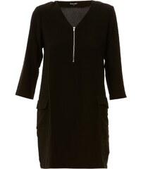 Best Mountain Kleid mit fließendem Schnitt - schwarz