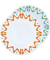 Site Corot Florida - 2 assiettes présentation Porcelaine de Limoges - orange
