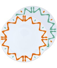 Site Corot Florida - 2 assiettes réception Porcelaine de Limoges - orange