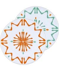 Site Corot Florida - 2 assiettes dessert Porcelaine de Limoges - orange