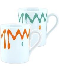 Site Corot Florida - 2 Mugs en Porcelaine de Limoges - orange