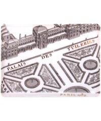 Site Corot Palais des tuileries - Plateau S 16x12cm Porcelaine de Limoges - blanc