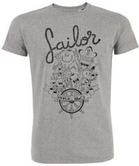 ArteCita Sailor - T-shirt imprimé Bio - gris