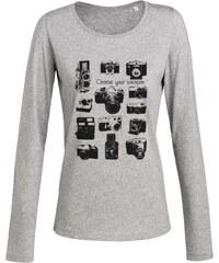 ArteCita Appareils photo vintage - T-shirt imprimé bio - gris
