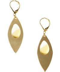 Azucar Bijoux Lola - Boucles d'oreilles Porcelaine dorées 16K - jaune