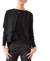 Eros & Agape Eva - Cardigan ample en jersey - noir