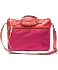 Cerise & Louis Sac à main femme porte document en nylon et cuir - rouge