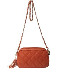 Elyséa Diana - Handtasche - aus orangefarbenem Leder