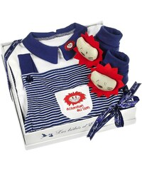 Les Bébés d Elysea Set für 12 Monate Babys - marineblau