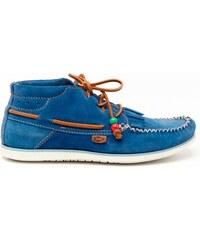 Dolfie Dolfie Landom - Chaussures montantes en cuir - bleu