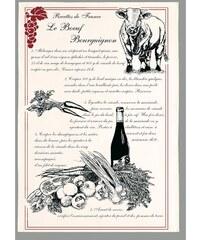 Torchons et bouchons Boeuf Bourguignon - Torchon - beige