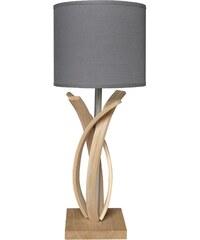 Limelo design Alice - Lampe de table design en bois et abat jour - Gris anthracite