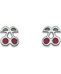 Tous mes bijoux Boucles d'oreilles en argent - rouge
