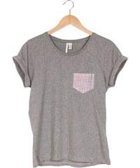 Mamamushi Tee shirt poche imprimé - gris chine