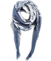 8Aout indien face - Foulard en modal - bleu