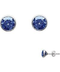Tous mes bijoux Boucles d'oreilles en argent - bleu