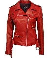 DKS Rock Envy - Biker en cuir - rouge