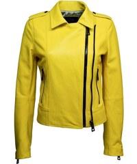 DKS Marina - Veste en cuir - jaune