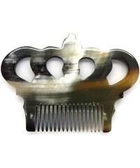 L'Artisan Créateur Peigne couronne impériale - corne foncée - multicolore