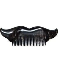L'Artisan Créateur Peigne moustache brazil- corne foncée - multicolore