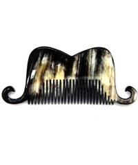 L'Artisan Créateur Peigne moustache portugal- corne foncée - multicolore