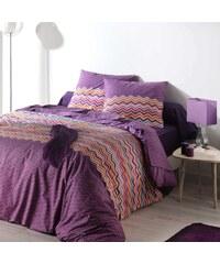 C Design Home Essentiel - Housse de couette et taie - prune