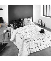 C Design Home Black & White - Housse de couette et taie d'oreiller - blanc