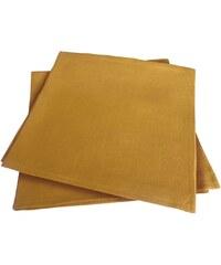 Blanc Cerise Délices de Lin - Lot de 2 serviettes de table - safran