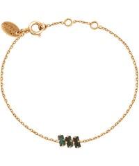 Caroline Najman Baguette Triple - Bracelet chaîne - Emerald