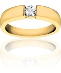 Promesse Solitaire en or ornée de diamant - doré