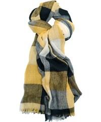 Le Secret des Eléphants Henri - Etole en laine tissée - jaune