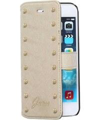 The Kase iPhone 6 - Coque clapet cloutée - beige