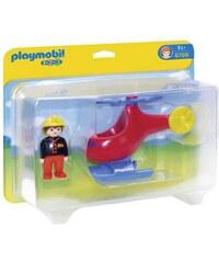 Playmobil 1.2.3 - Pompier avec hélicoptère - multicolore