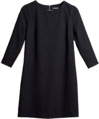 Les Couleurs du Noir HANAE - Robe trapèze emmanchures raglan - noir