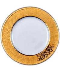 Site Corot ISIDORE - Assiette plate Porcelaine de Limoges - OR
